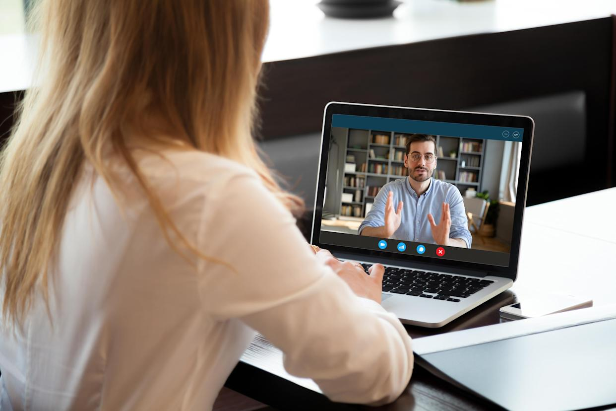 Turn off your video and mic when you're not using them during video meetings. (Photo: Getty)