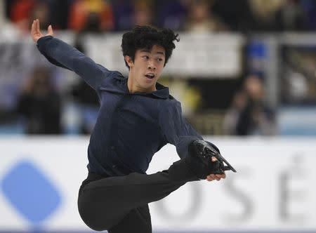 Figure Skating - ISU Grand Prix Rostelecom Cup 2017 - Men's Free Skating - Moscow, Russia - October 21, 2017 - Nathan Chen of the U.S. competes. REUTERS/Alexander Fedorov