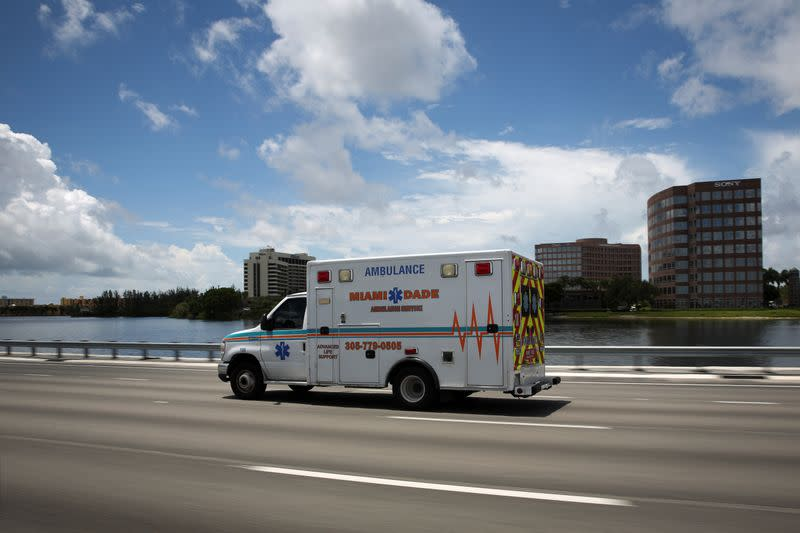 FILE PHOTO:  Spike in new coronavirus cases as Miami-Dade County eases some of the lockdown measures put in place during the coronavirus disease (COVID-19) outbreak