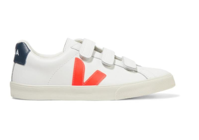 3-Lock Logo rubber-trimmed leather sneakers. (Photo: Net-A-Porter)