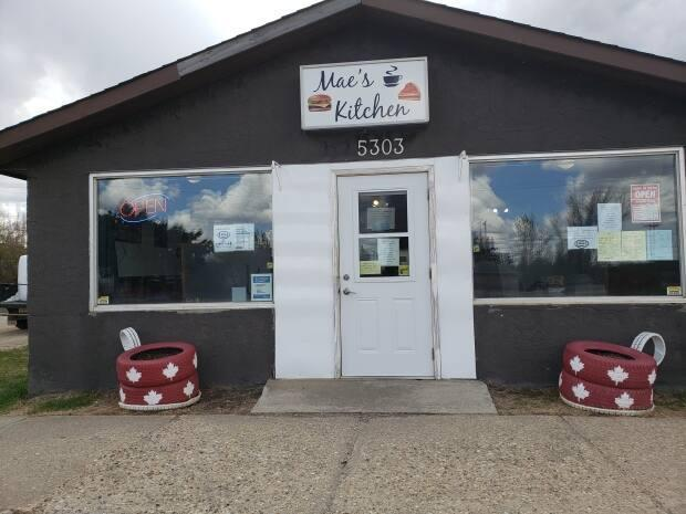 Mae's Kitchen, a café in Mirror, Alta., has been quietly following public health guidelines. (Submitted by Mae's Kitchen - image credit)