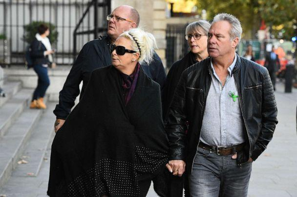 PHOTO: The family of Harry Dunn, (from left) Tim Dunn (Harry's father), Charlotte Charles (Harry's mother), Tracey Dunn and Bruce Charles, arrive at Portcullis House, for a meeting with shadow Foreign Secretary Emily Thornberry, Oct. 22 2019, in London. (Kirsty O'Connor/PA Wire via ZUMA Press)