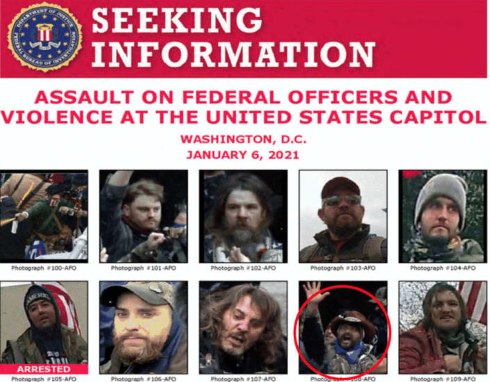 """<div class=""""inline-image__caption""""><p>Luke Coffee featured in one of the FBI's Most Wanted posters following the riot.</p></div> <div class=""""inline-image__credit"""">FBI</div>"""