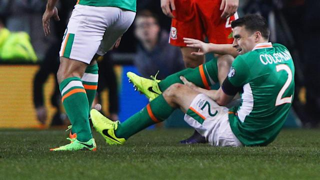 The Republic of Ireland international is facing a long road to recovery after suffering a double fracture while representing his country against Wales