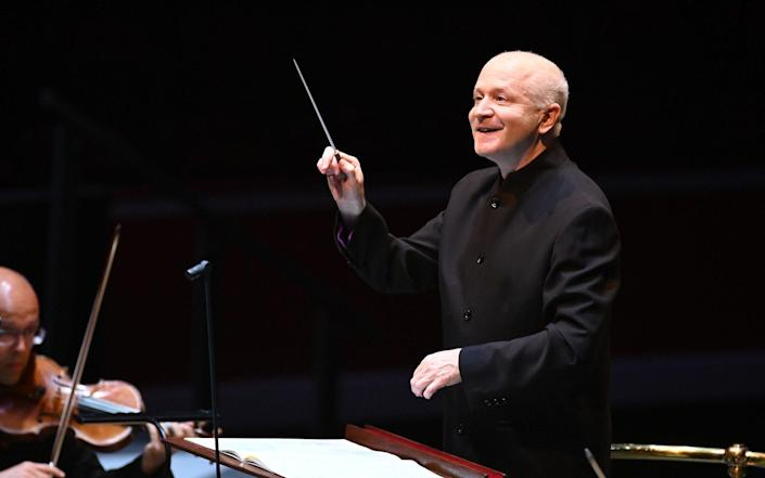George Benjamin with the Mahler Chamber Orchestra at the Proms - BBC/Chris Christodoulou