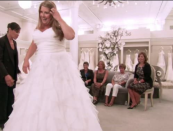 """<p>All brides who agree to be on the show have to travel to New York City to film in the <a href=""""https://www.goodhousekeeping.com/life/entertainment/a30457738/say-yes-to-the-dress-tlc-behind-the-scenes-secrets/"""" rel=""""nofollow noopener"""" target=""""_blank"""" data-ylk=""""slk:famous Kleinfeld Bridal"""" class=""""link rapid-noclick-resp"""">famous Kleinfeld Bridal</a>. Fine, twist our arms.</p>"""