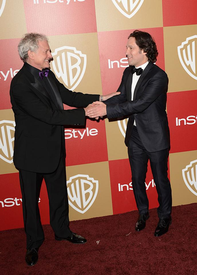 Victor Garber and Paul Rudd attend the 14th Annual Warner Bros. And InStyle Golden Globe Awards After Party held at the Oasis Courtyard at the Beverly Hilton Hotel on January 13, 2013 in Beverly Hills, California.
