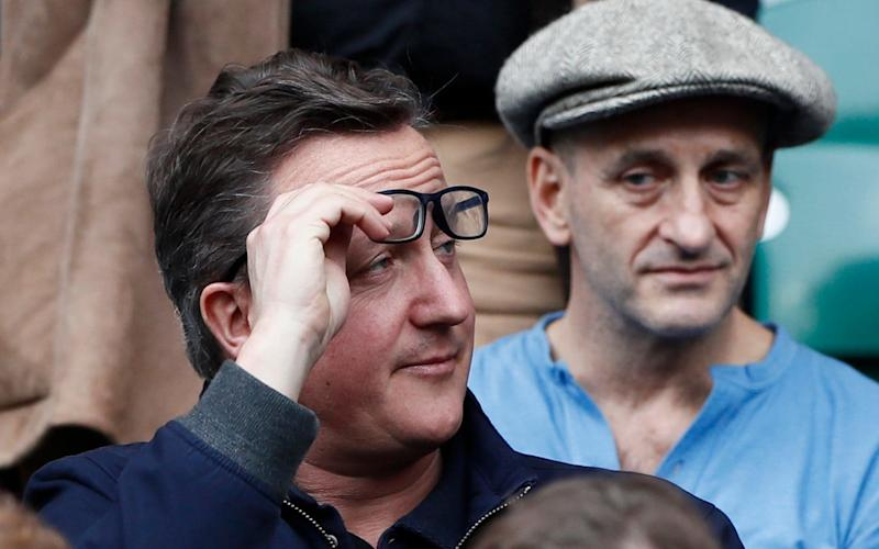 Former Prime Minister David Cameron was also at the game - Credit:  Stefan Wermuth/Reuters