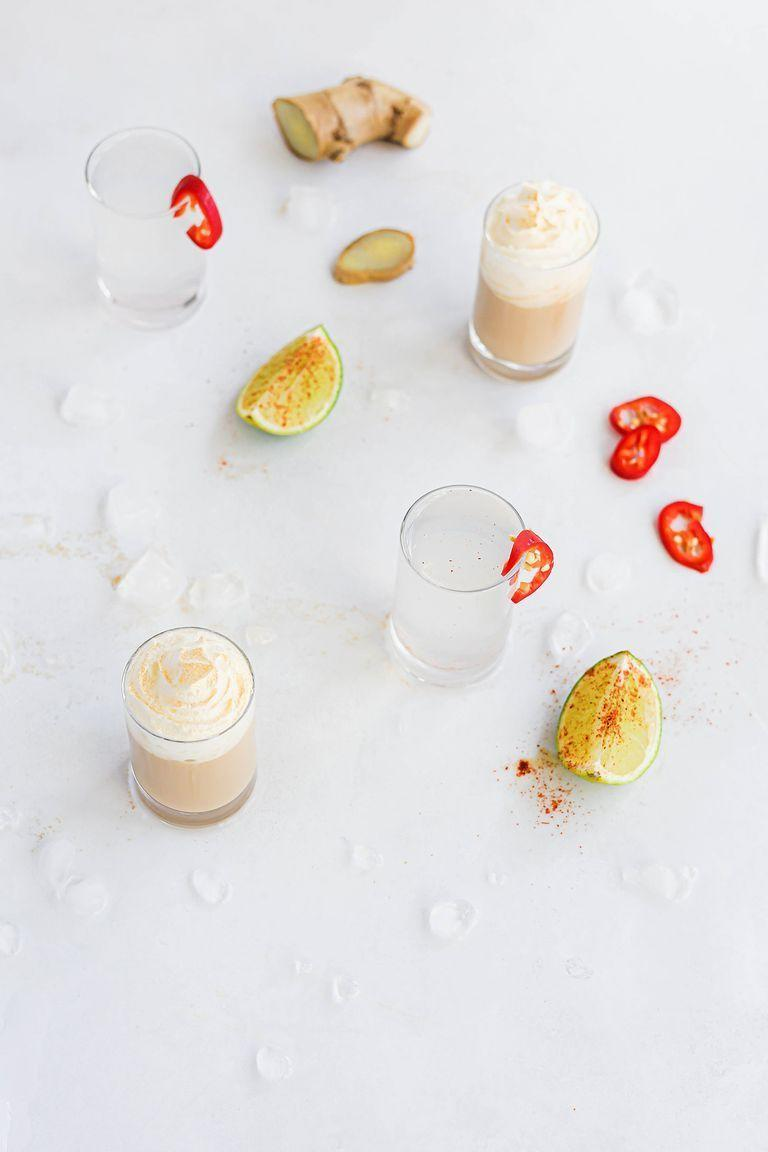 """<p>These heaven and hell shots are perfect for your next <a href=""""https://www.delish.com/uk/cooking/recipes/g34022642/halloween-food-ideas/"""" rel=""""nofollow noopener"""" target=""""_blank"""" data-ylk=""""slk:Halloween"""" class=""""link rapid-noclick-resp"""">Halloween</a> party. Which one will you pick? Our heavenly shot, Baileys and amaretto topped with gold squirty cream, or our devilishly spicy hell shots - chilli and ginger vodka with a lime chaser. </p><p>Get the <a href=""""https://www.delish.com/uk/cocktails-drinks/a37661019/heaven-and-hell-halloween-shots/"""" rel=""""nofollow noopener"""" target=""""_blank"""" data-ylk=""""slk:Heaven & Hell Halloween Shots"""" class=""""link rapid-noclick-resp"""">Heaven & Hell Halloween Shots</a> recipe.</p>"""