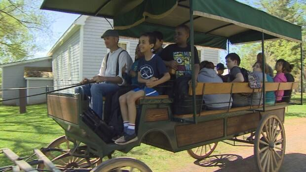 The Orwell experience ends with a horse-and-carriage ride to nearby Macphail Woods, where the students will do science activities.