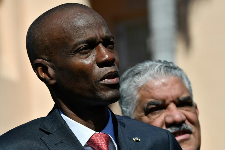 Haitain President Jovenel Moïse, seen here speaking after meeting with US President Donald Trump in March, faces violent street protests at home (AFP Photo/Nicholas Kamm)