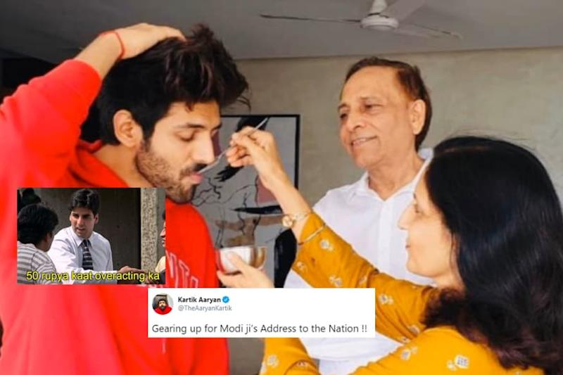 Kartik Aaryan Hilariously 'Gearing up' for PM Modi's Address to Nation Has Twitter in Splits