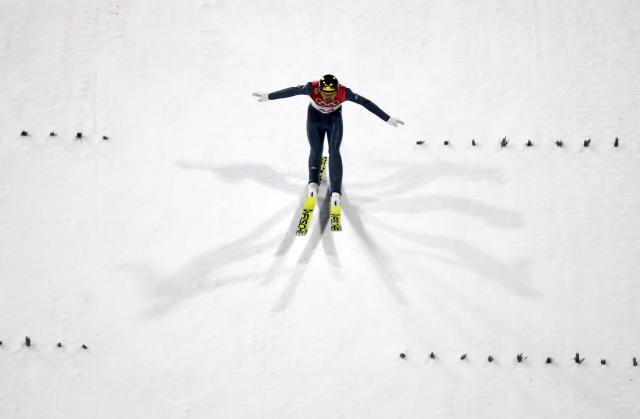 Nordic Combined Events - Pyeongchang 2018 Winter Olympics - Men's Individual Gundersen Large Hill Competition - Alpensia Ski Jumping Centre - Pyeongchang, South Korea – February 20, 2018 - Johannes Rydzek of Germany competes. REUTERS/Kai Pfaffenbach