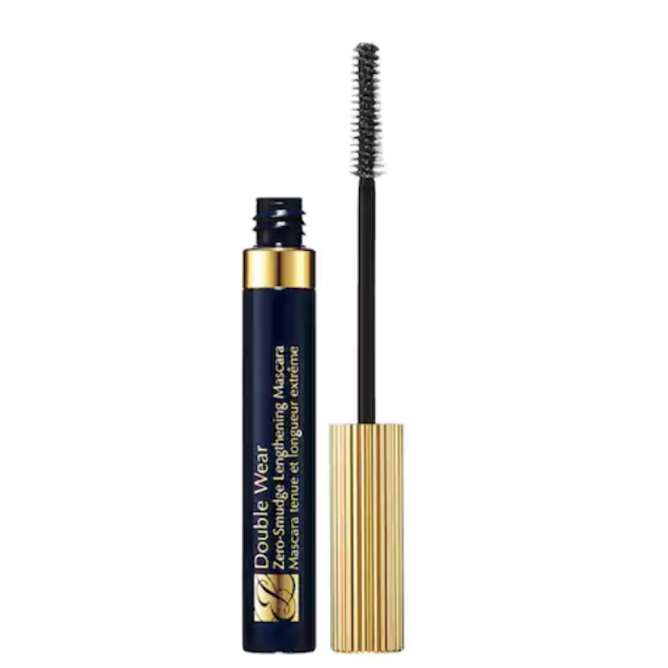 """<p>Esteé Lauder Double Wear Zero-Smudge is a glossy, intensely pigmented mascara that has gained a following for its volumizing and lengthening formula, which keeps undereyes smudge-free. The brush features both long and short bristles for double the chances of coating every last lash. When we tried this stuff, it lived up to its smudge-proof claims, even through a sweaty workout (although it's <em>not</em> tear-proof or waterproof).</p> <p><strong>$26</strong> (<a href=""""https://shop-links.co/1635170733752742529"""" rel=""""nofollow noopener"""" target=""""_blank"""" data-ylk=""""slk:Shop Now"""" class=""""link rapid-noclick-resp"""">Shop Now</a>)</p>"""