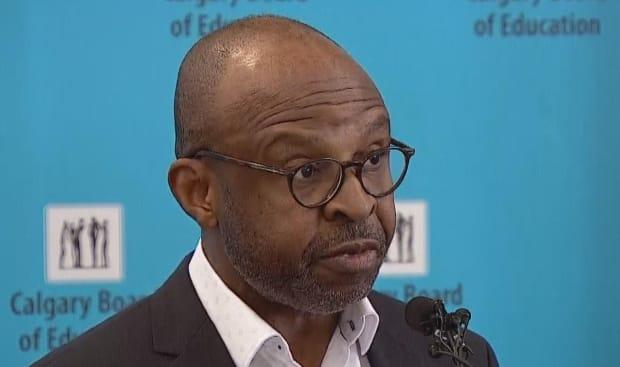 CBE chief superintendent Christopher Usih says he sent a note to all staff earlier this week reminding them that the use of racial slurs in any capacity is forbidden. (CBC - image credit)