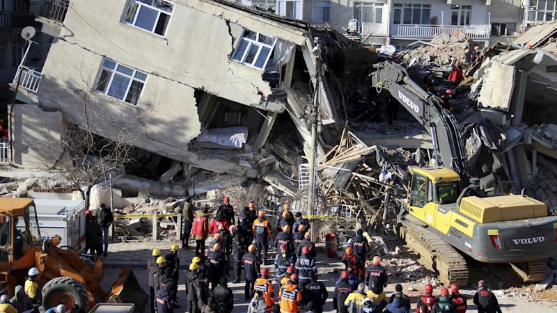 Rescuers are searching for survivors of a quake in Turkey that has killed at least 22 people