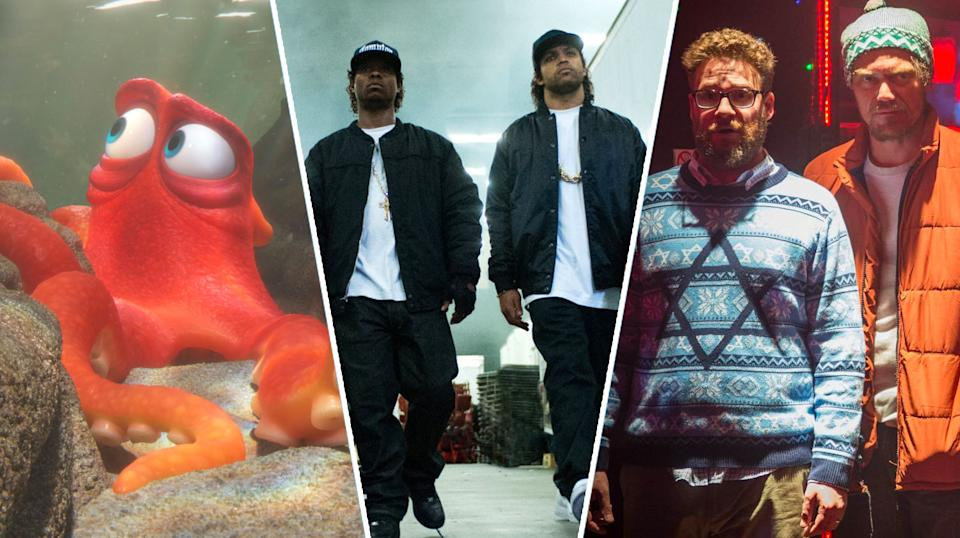 Finding Dory, Straight Outta Compton, The Night Before.