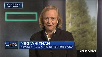 Meg Whitman, Hewlett Packard Enterprise CEO, denies she has future plans to run for president or any other elected office.