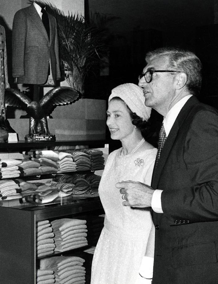 <p>What's a trip to New York City without a little shopping? Queen Elizabeth II also made time to stop at Bloomingdale's during her visit to do a little browsing. </p>