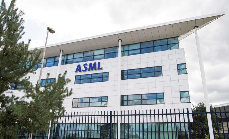 ASML building is seen near the headquarters in Veldhoven