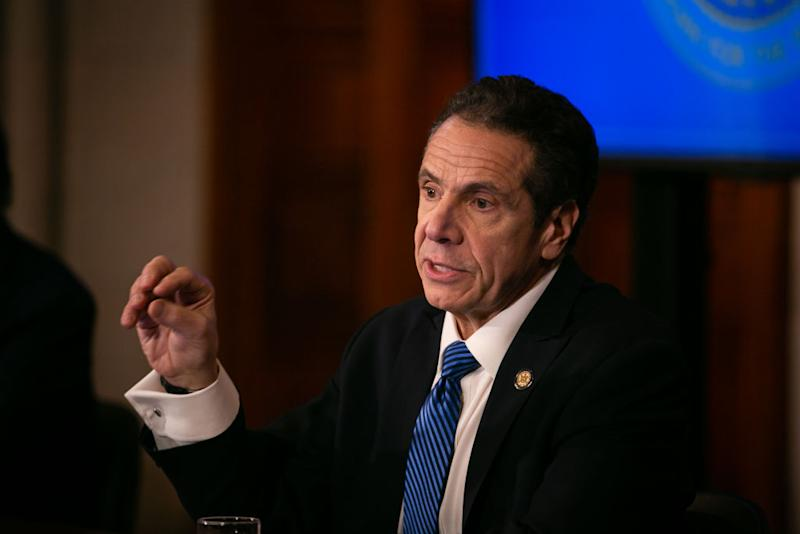 New York Governor Andrew Cuomo gives his daily press briefing amidst the coronavirus crisis. Source: Getty
