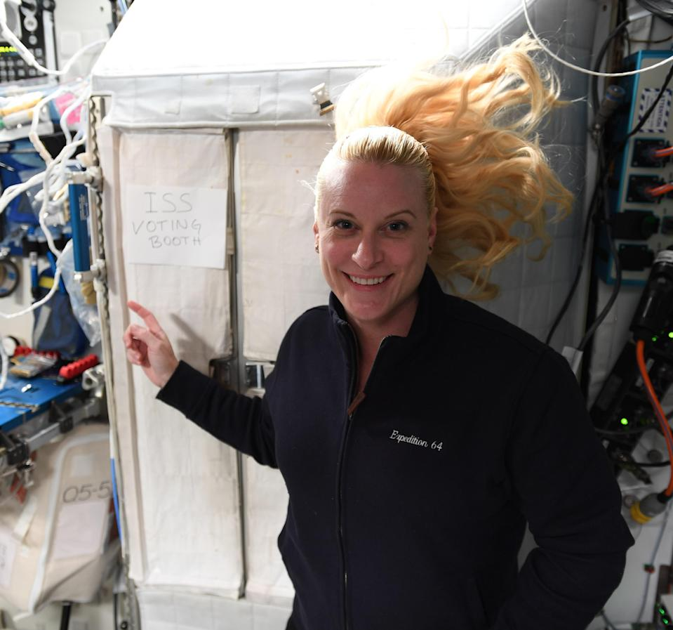 Astronaut Kate Rubins has cast her ballot from space ahead of election day. (NASA)
