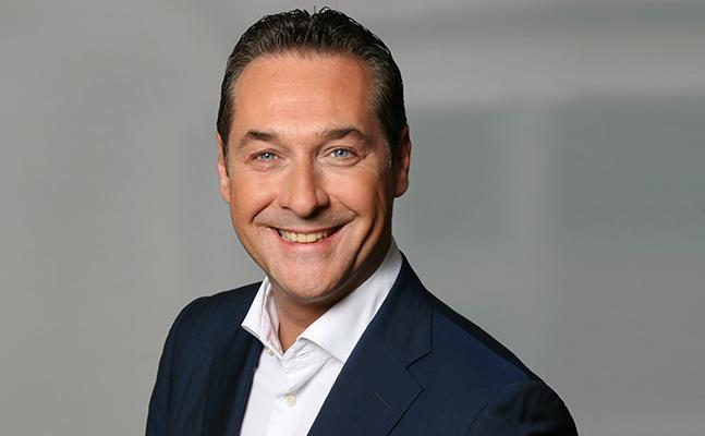 Heinz-Christian Strache, the leader of the far-right FPOe