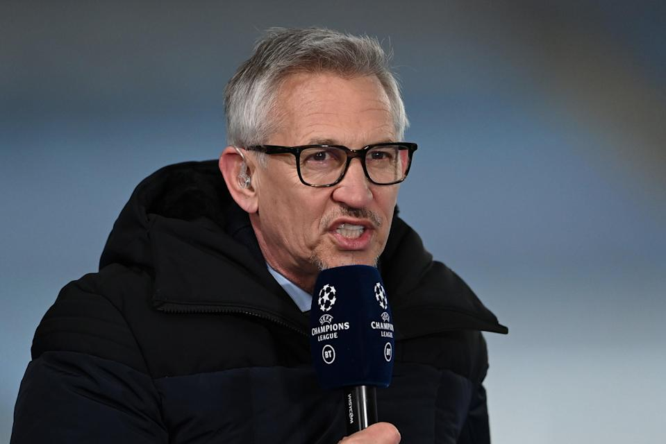 <p>Gary Lineker has hosted BT Sport's Champions League coverage since 2015</p> (Getty Images)