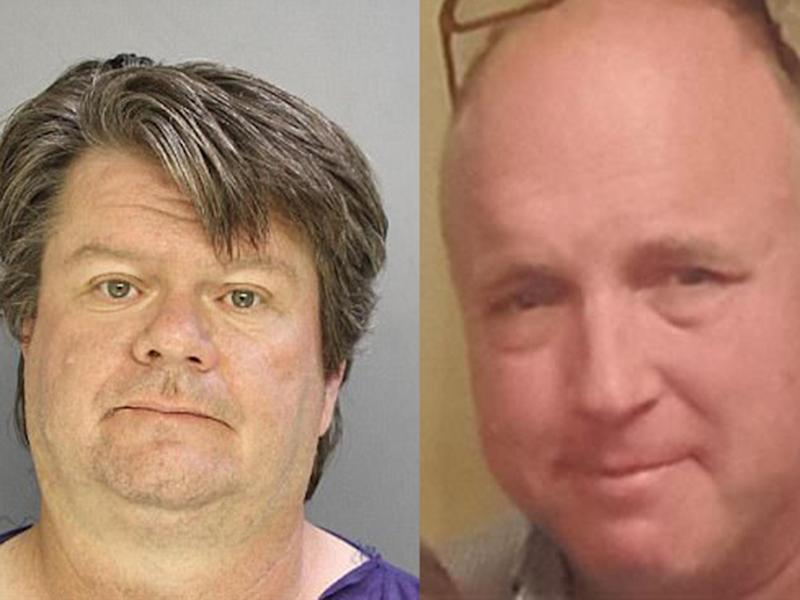 Clayton Carter, left, has been charged with murdering his neighbour George Jennings