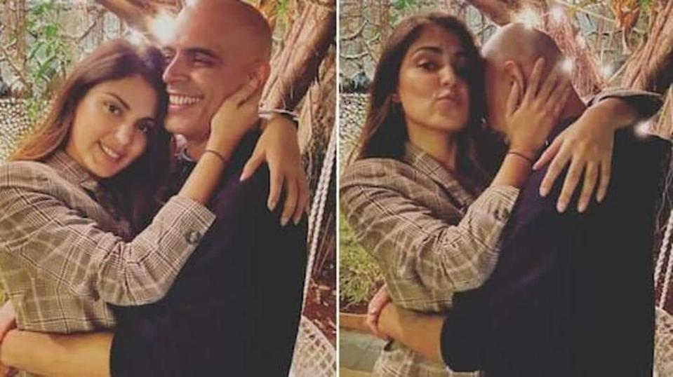 After being trolled, Rajiv deletes pictures with Rhea Chakraborty