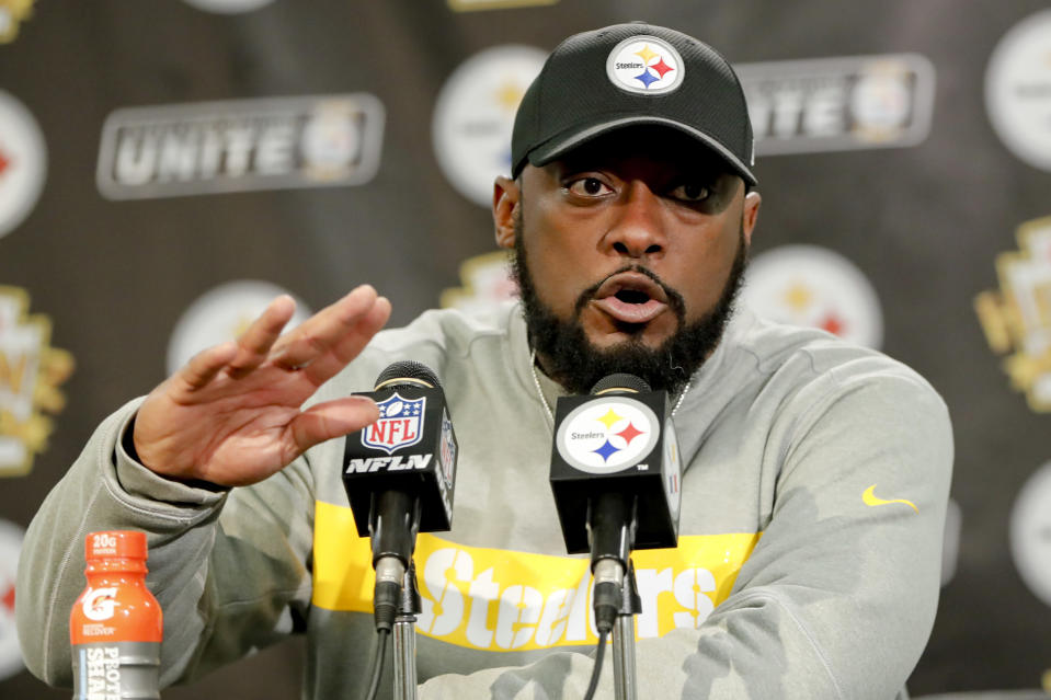 Mike Tomlin and the Steelers are in danger of missing the playoffs for the first time since the 2013 season. (AP)
