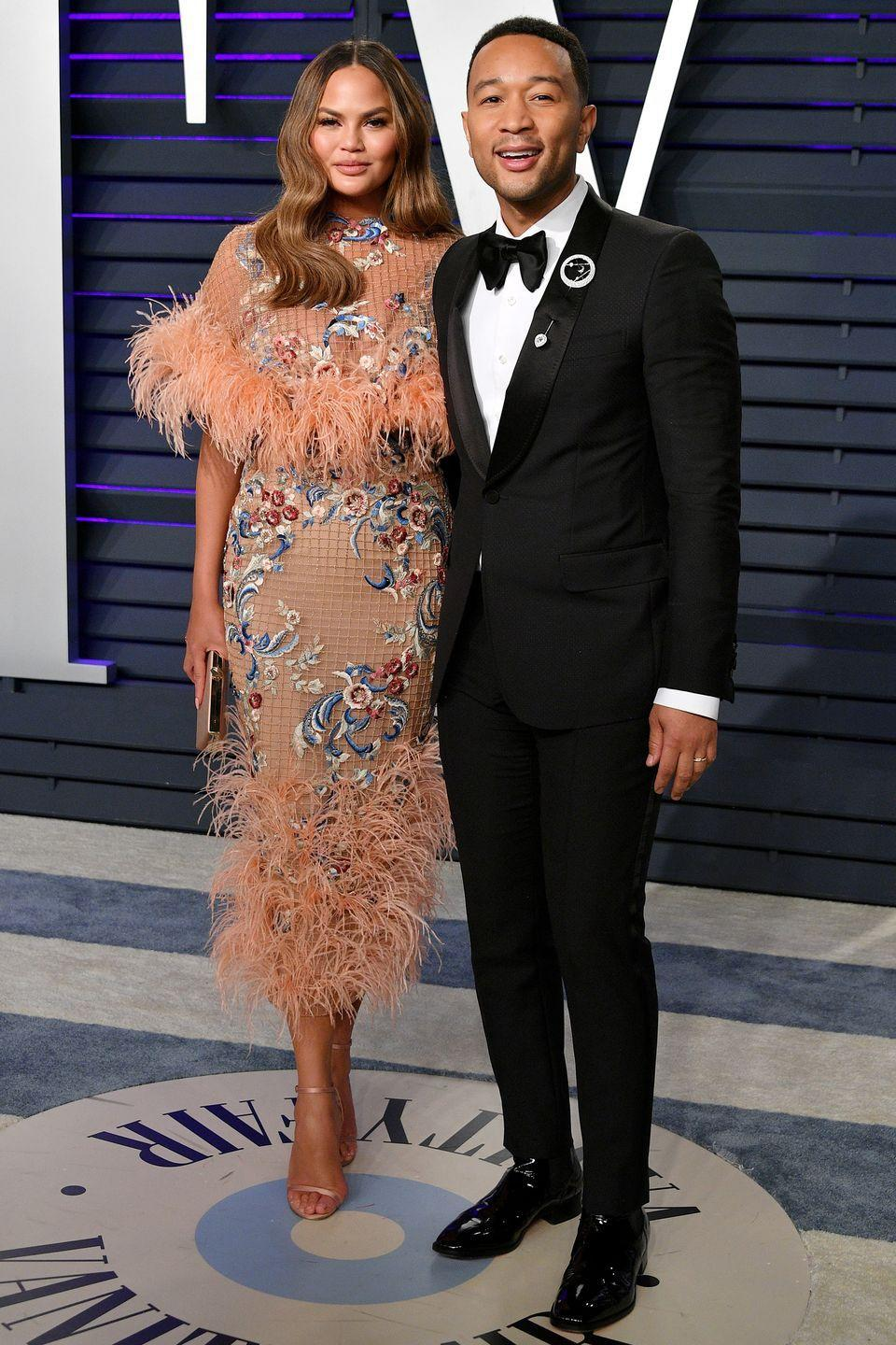"<p>Model and unofficial Twitter queen Chrissy Teigen and EGOT winner John Legend are an adorable, low-key couple who love to share their <a href=""https://www.harpersbazaar.com/celebrity/red-carpet-dresses/g7130/chrissy-teigen-and-john-legend-photos/"" rel=""nofollow noopener"" target=""_blank"" data-ylk=""slk:family adventures"" class=""link rapid-noclick-resp"">family adventures</a> on social media. The two first met on set of Legend's 2007 ""Stereo"" music video, where Teigen played his love interest. ""We did the music video, we were together for like 12 hours,"" Teigen <a href=""https://www.youtube.com/watch?v=xNW1lBhoHYY"" rel=""nofollow noopener"" target=""_blank"" data-ylk=""slk:told Wendy Williams"" class=""link rapid-noclick-resp"">told Wendy Williams</a> in 2014. ""We spent the entire day together, me in my underwear and him in a full suit, and I went to go say goodbye to him, to his hotel and we didn't ever say goodbye that night.""</p><p>The two <a href=""http://time.com/5233865/chrissy-teigen-john-legend-relationship-timeline/"" rel=""nofollow noopener"" target=""_blank"" data-ylk=""slk:married"" class=""link rapid-noclick-resp"">married</a> September 2013 in Lake Como, and now have two children together: daughter Luna, and son Miles. </p>"
