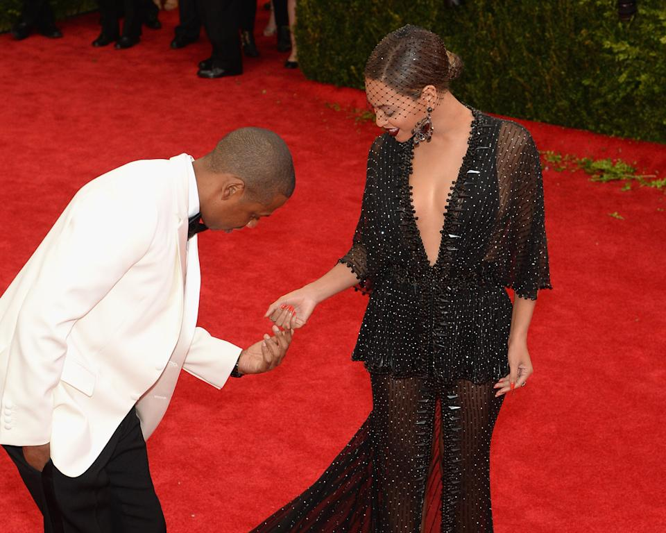 Jay-Z and Beyonce attend the 2014 Met Gala