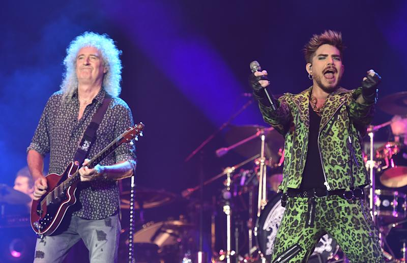 Queen and Adam Lambert perform at the Fire Fight Australia, a concert for National Bushfire Relief in Sydney on Feb. 16, 2020. (Photo: Peter Parks/AFP via Getty Images)