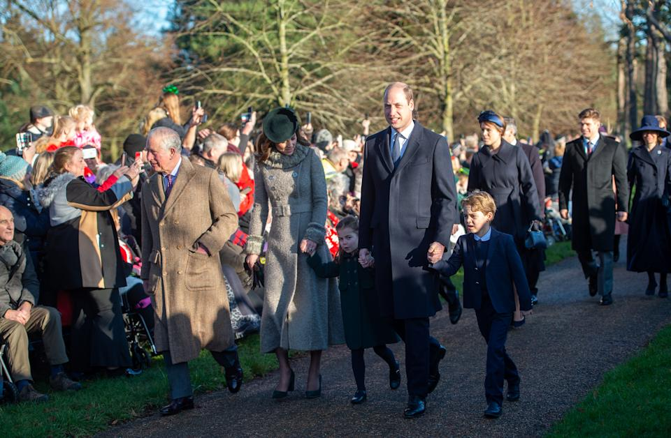 Last year, Prince George and Princess Charlotte attended the service for the first time. Photo: Getty