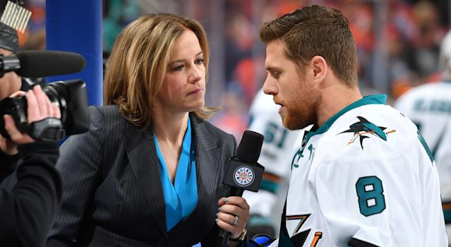 Cassie Campbell-Pascall (left) is more than qualified for the job and would be breaking new ground in Canadian sports broadcasting once again in the process. (Photo by Andy Devlin/NHLI via Getty Images)