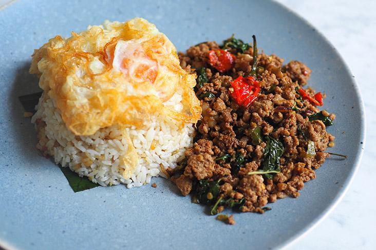 A crowd pleaser is the 'pad krapow' with the minced pork, fried egg and jasmine rice