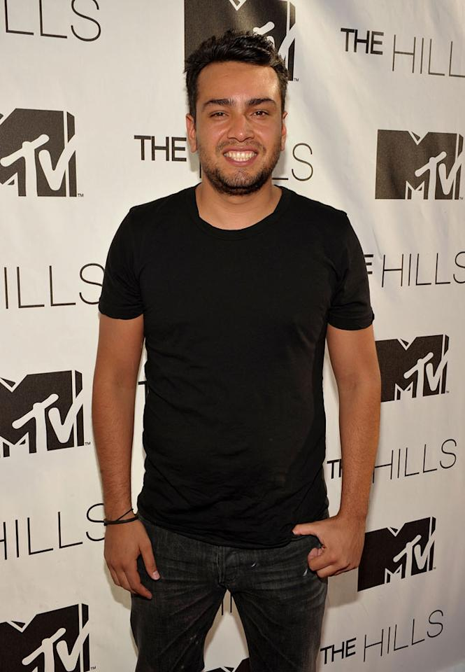 "Frankie Delgado attends MTV's ""The Hills Live: A Hollywood Ending"" Finale event held at The Roosevelt Hotel on July 13, 2010 in Hollywood, California."