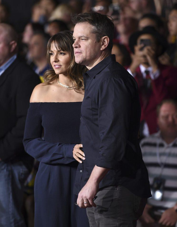 Matt Damon and wife Luciana Barroso have had 12 great years together. (Photo: Jordan Strauss/Invision/AP)