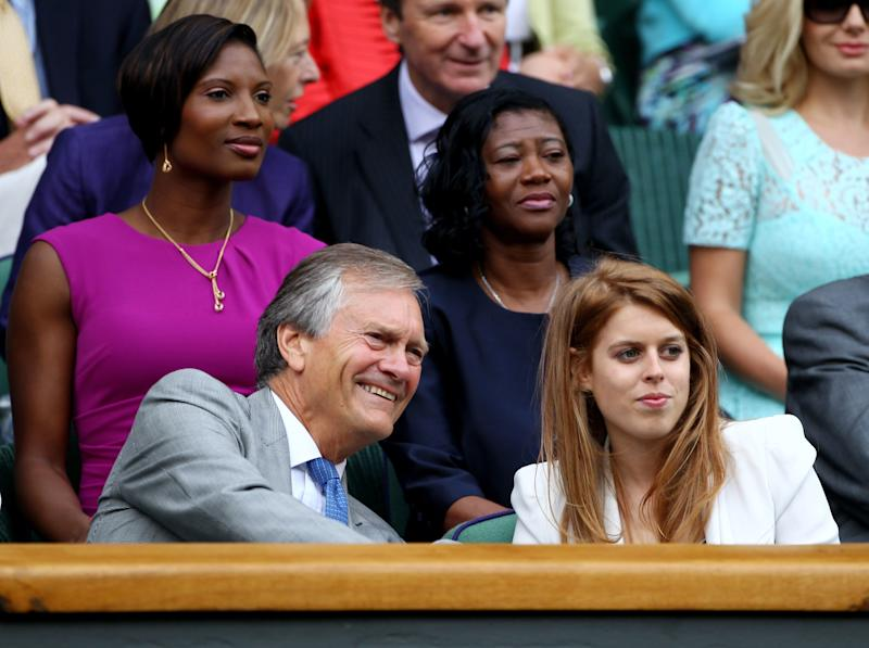 Charles Delevingne and Princess Beatrice attend the semifinal round match between Jo-Wilfried Tsonga of France and Novak Djokovic of Serbia on Day Eleven of the Wimbledon Lawn Tennis Championships at the All England Lawn Tennis and Croquet Club on July 1, 2011 in London, England. Photo courtesy of Getty Images.