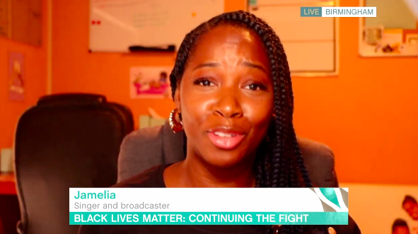 Jamelia said she has experienced racism every day of her life. (ITV)