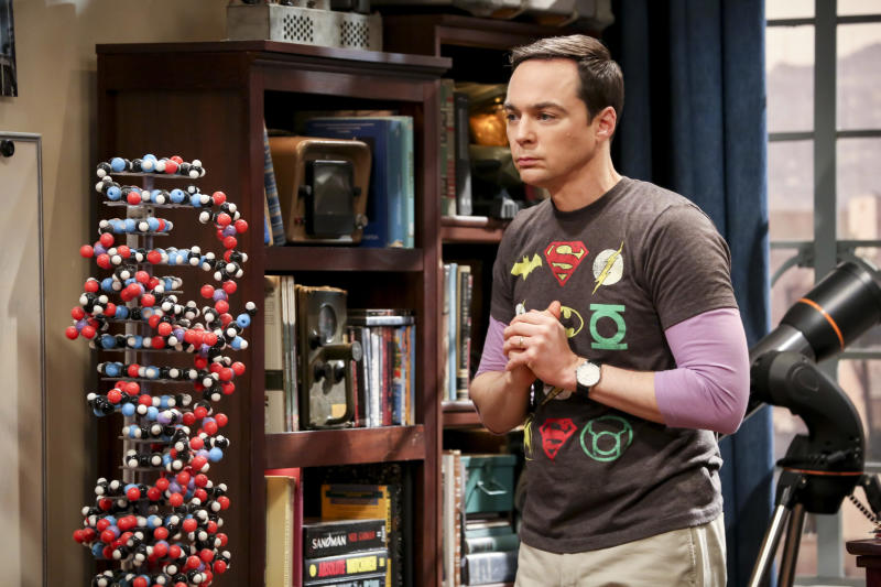 "This photo provided by CBS shows Jim Parsons in a scene from the series finale of ""The Big Bang Theory,"" Thursday, May 16, 2019, airing 8:30 - 9:00 p.m., ET/PT, on the CBS Television Network. (Michael Yarish/CBS via AP)"
