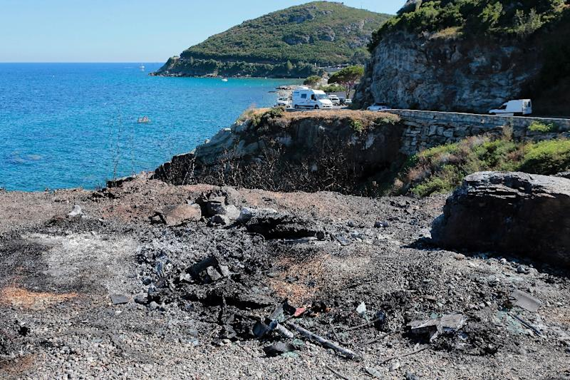 The Corsican town of Sisco on Sunday became the third on the list after a brawl in a cove between locals and families of North African origin left five people injured (AFP Photo/Pascal Pochard-Casabianca)