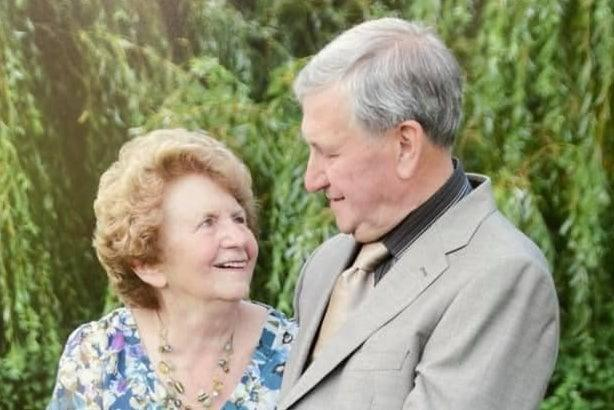 <p>Doris Doubleday with her husband Eric who has been left heartbroken by the theft</p> (Facebook)