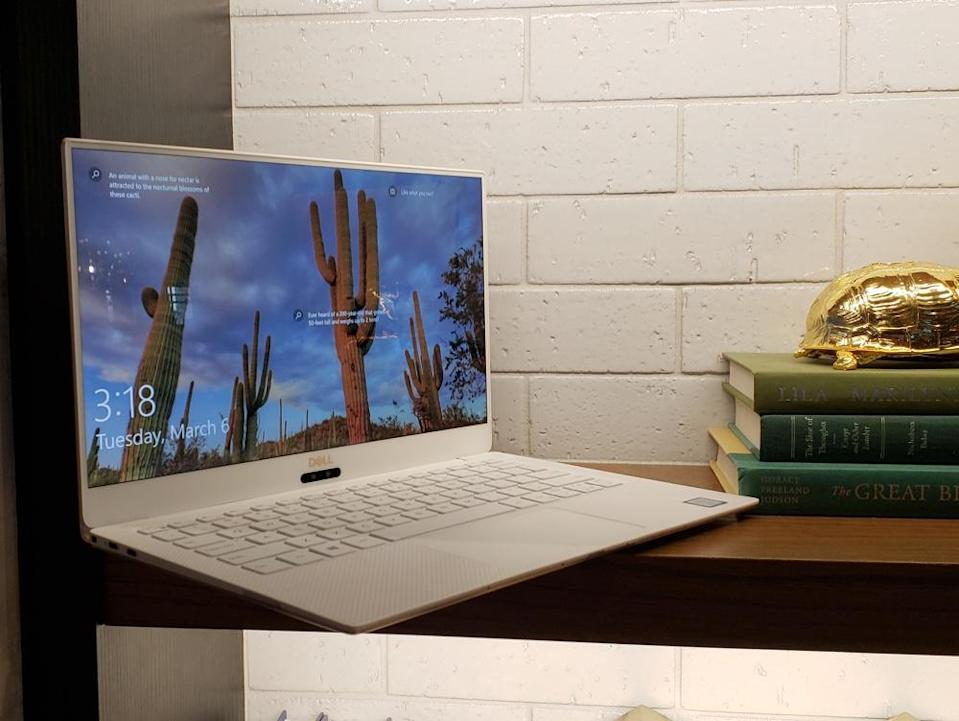 The XPS 13's 13.3-inch InfiniteEdge display offers crisp, colorful visuals.