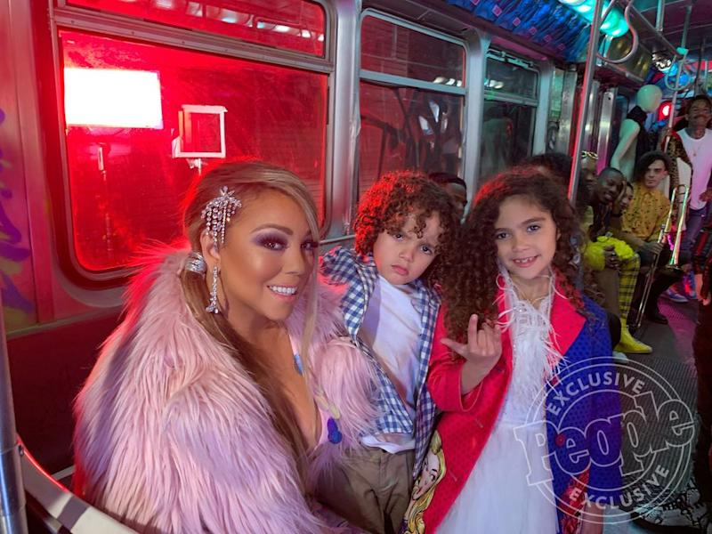 Mariah Carey with twins Moroccan and Monroe