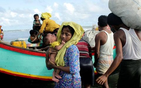 Many of the Rohingya fleeing the violence in Myanmar had travelled by boat to find refuge in neighbouring Bangladesh - Credit: EPA