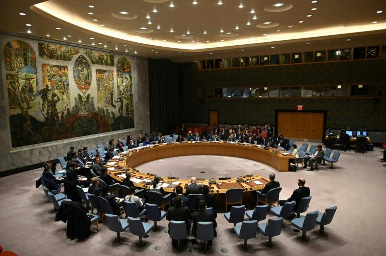 A meeting of the UN Security Council before the coronavirus pandemic