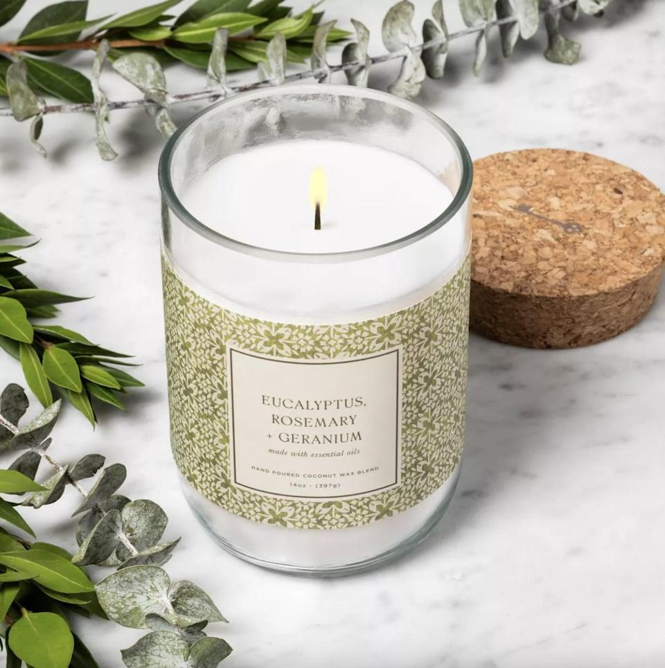<p>We suggest lighting this <span>Eucalyptus Rosemary and Geranium Candle</span> ($10) any time you want to kick back and relax.</p>
