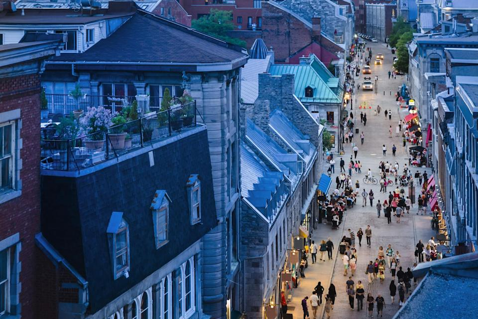A quaint street in Old Montreal.
